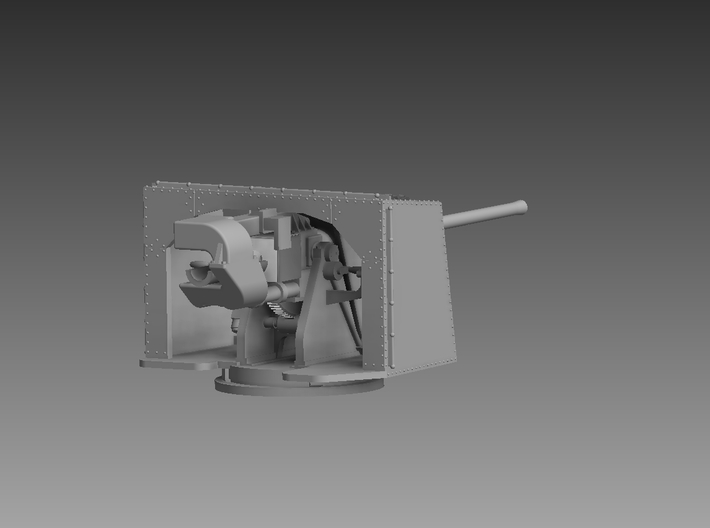 "4.7"" Gun and Shield 1/192 3d printed"