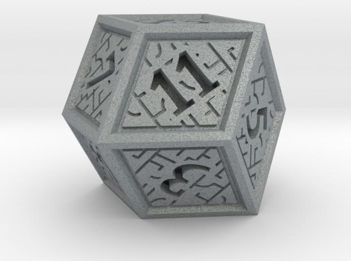 Hedron D12 (Solid), balanced gaming die 3d printed