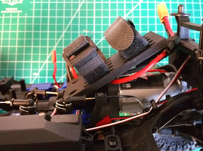 Traxxas TRX-4, Front Angled Battery Tray 3d printed