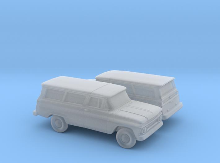1/160 2X 1962 Chevrolet Suburban 3d printed