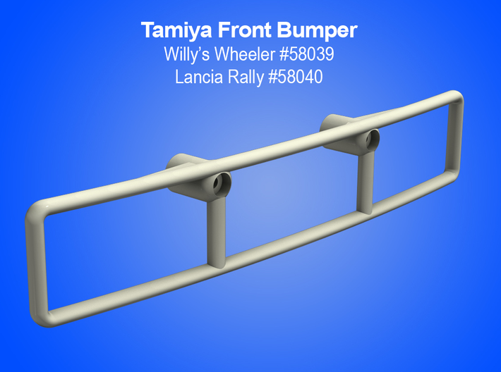 Tamiya RC Front Bumper for Vintage Willy's Wheeler 3d printed