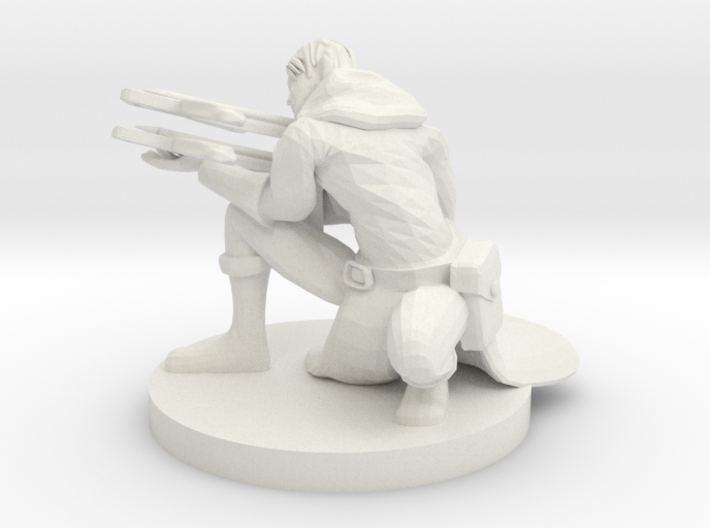 Double Crossbow Ranger Aiming 3d printed