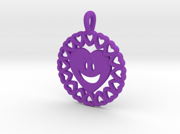 16- HEART CIRCLES - HEART FACE 3d printed