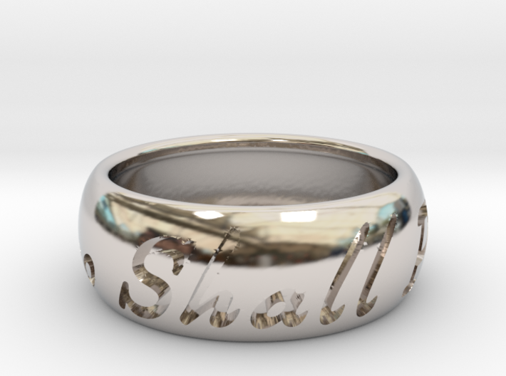 This Too Shall Pass ring size 11 1/2 3d printed
