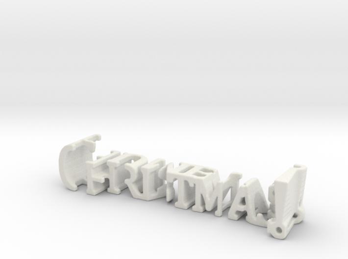 3dWordFlip: Christmas!/Humbug! 3d printed