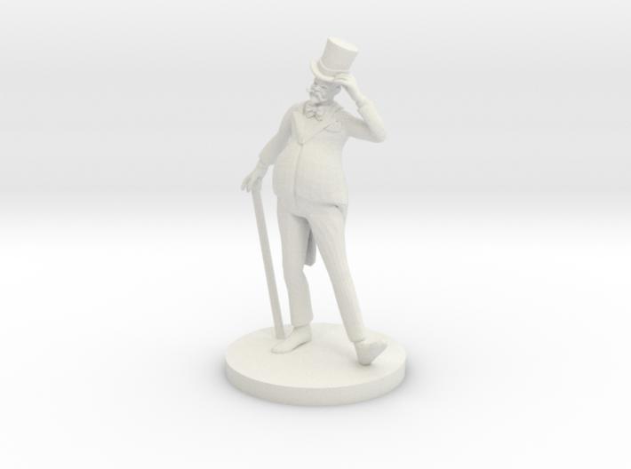 Fat Human Salesman 3d printed