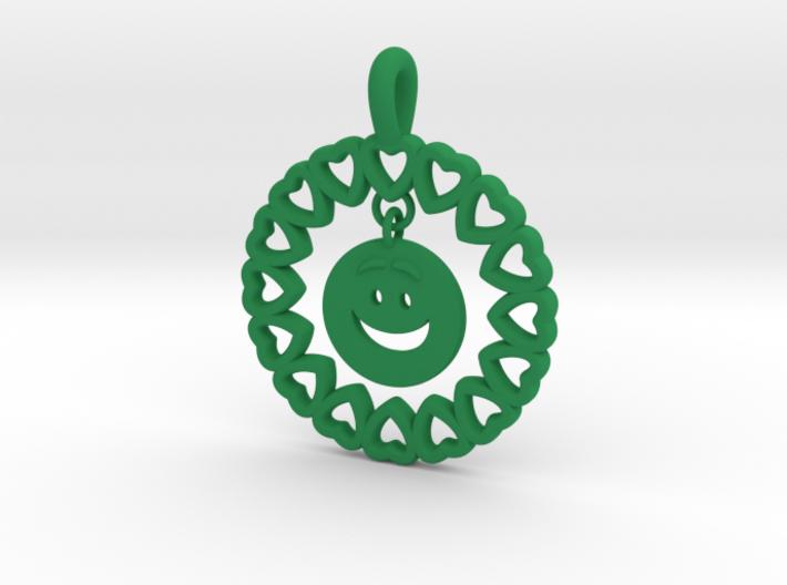 19- HEART CIRCLES Smiley FACE-Loops 3d printed