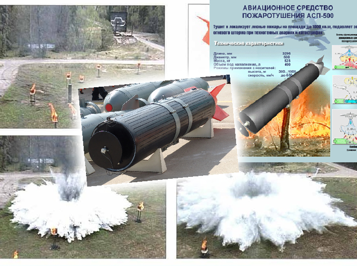 """ASP-500 """"Fire-Extinguishing Air System"""" 3d printed"""