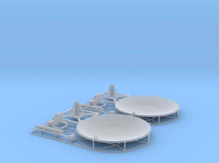 Satellite dish (60mm) double pack 3d printed
