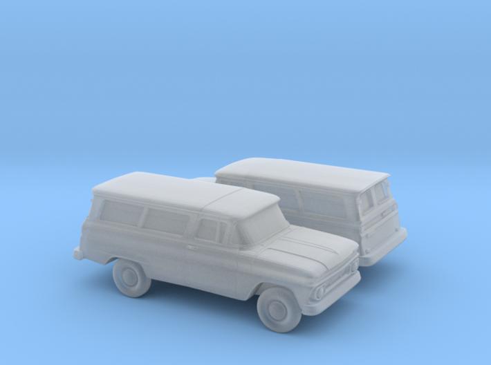 1/160 2X 1962 Chevrolet Suburban Split Rear Doors 3d printed