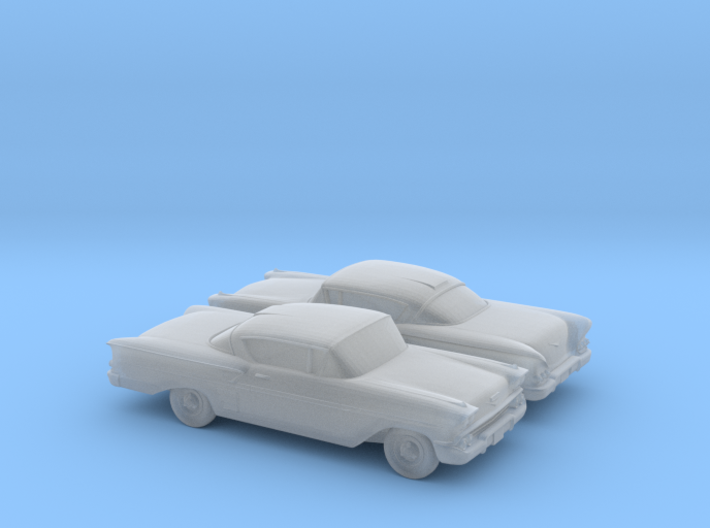 1/120 2X 1958 Chevrolet Impala Coupe 3d printed
