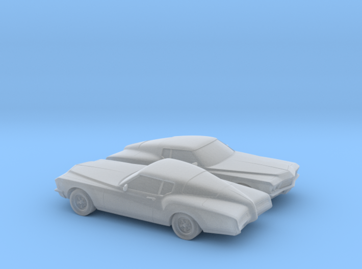 1/120 2X 1971 Buick Riviera 3d printed