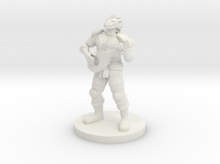 Dragonborn Male Bard 3d printed