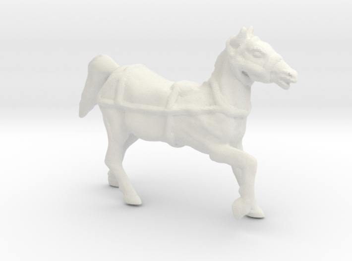 Horse with REINS O Scale 3d printed