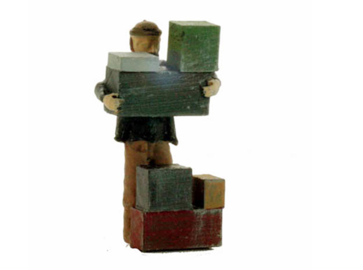 O Freight Dock WORKER Stacking Boxes Figure 3d printed