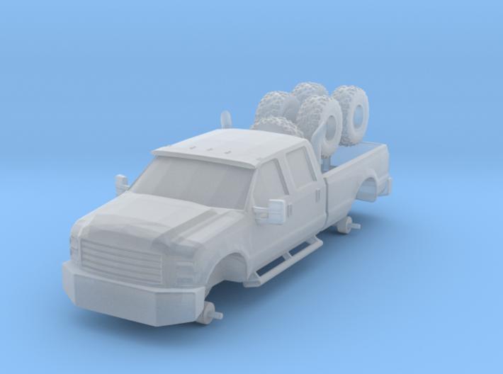1/87 Scale Big Custom 4x4 Pickup 3d printed