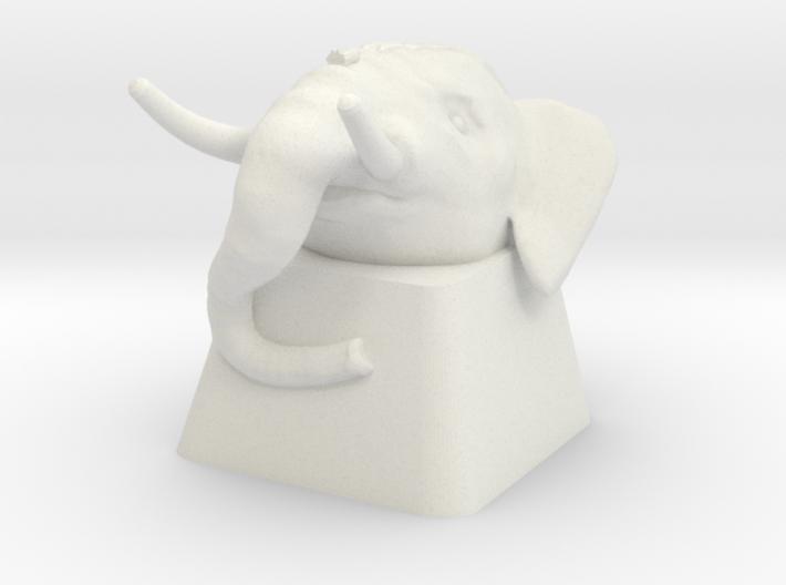 Elephant Cherry MX Keycap 3d printed