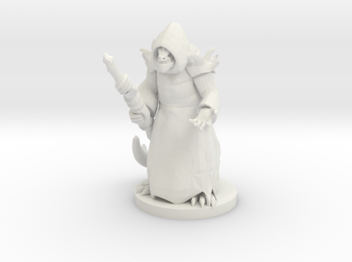 Lizard Folk Druid 3d printed