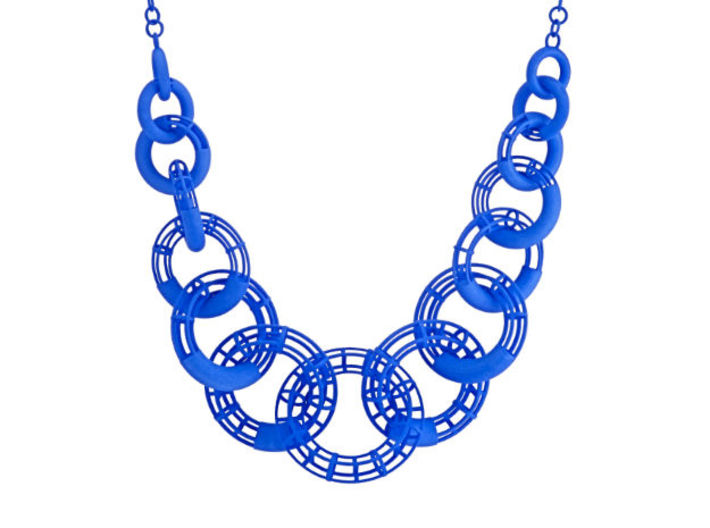50cm Solid - Structure Torus Necklace 3d printed