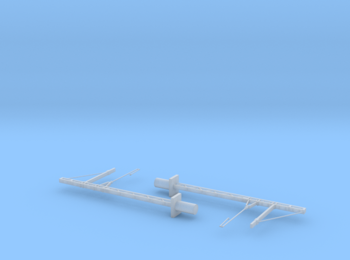 SNCF 1500V DC Catenary (Caténaires) Masts X2 Compr 3d printed