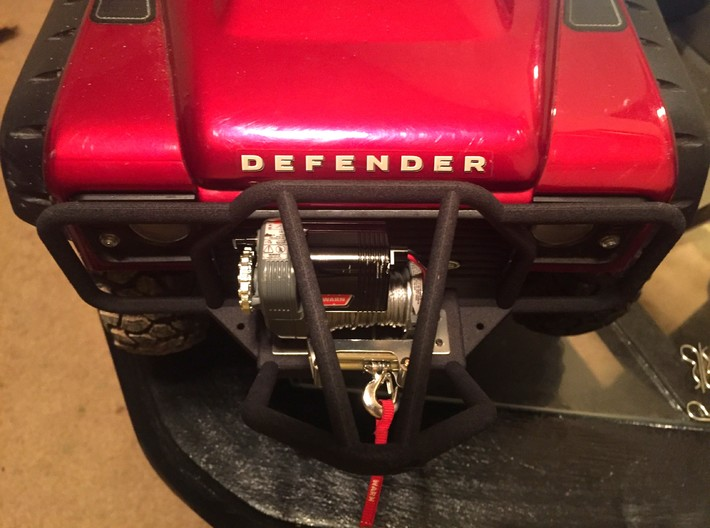 TRX-4, Front Stinger Bumper, Full Width 3d printed RC4WD 1/10 WARN 8274 WINCH