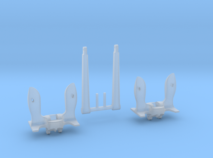 1/96 Anchors for Battleships (30,000 lbs.) 3d printed