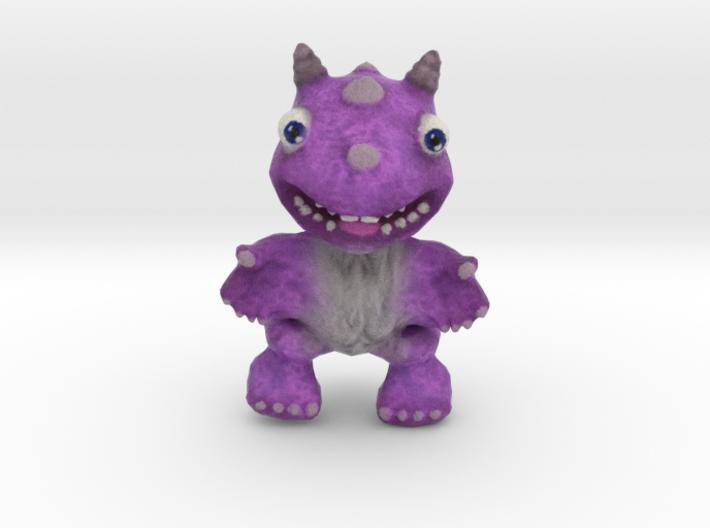 Purple Fur Dragon 3d printed
