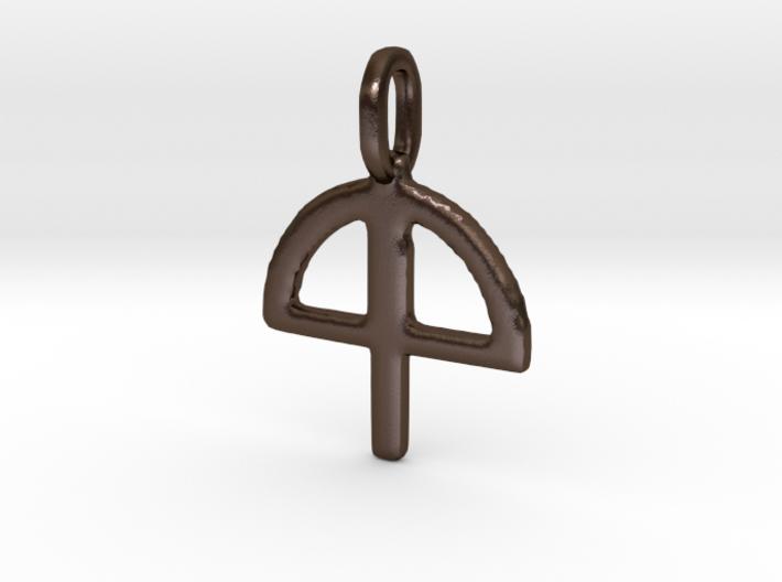 Lughnasadh Glyph Charm 3d printed