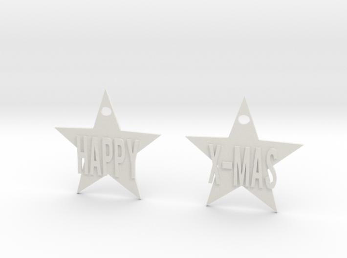 Happy X-mas star 3d printed