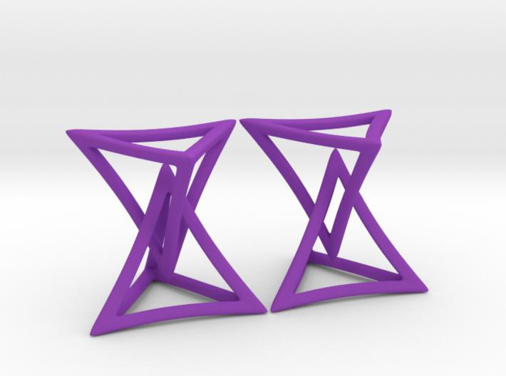 Changing Geometry Earrings 3d printed