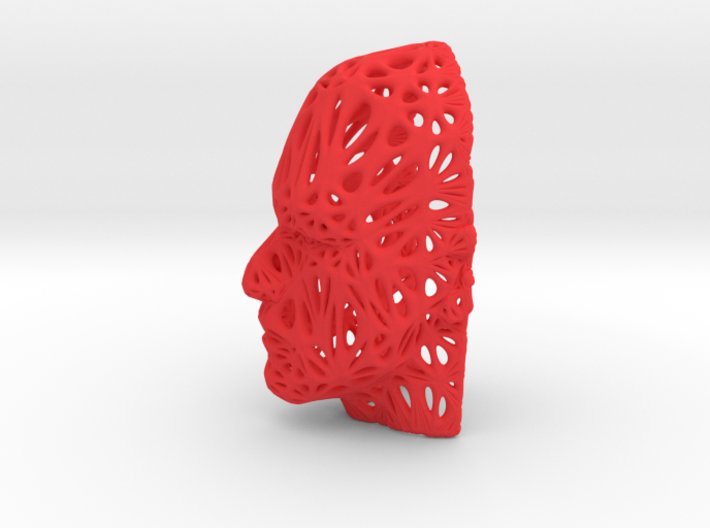 Male Voronoi Face 3d printed Male Voronoi Face
