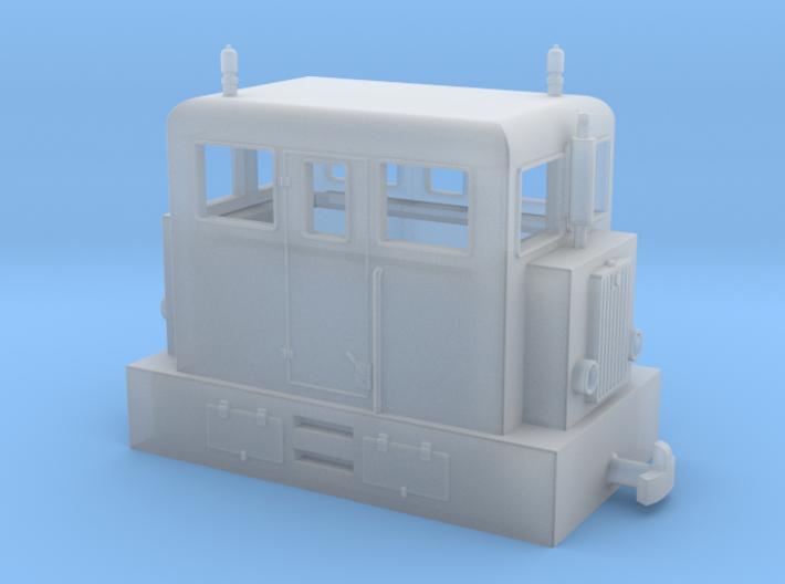 """Diesel loco H0e """"PocketBahn"""" 3d printed"""