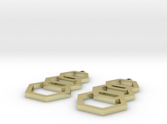 hexagon earrings 3d printed