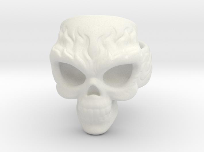 Elemental Skull Ring 'Fire' 3d printed
