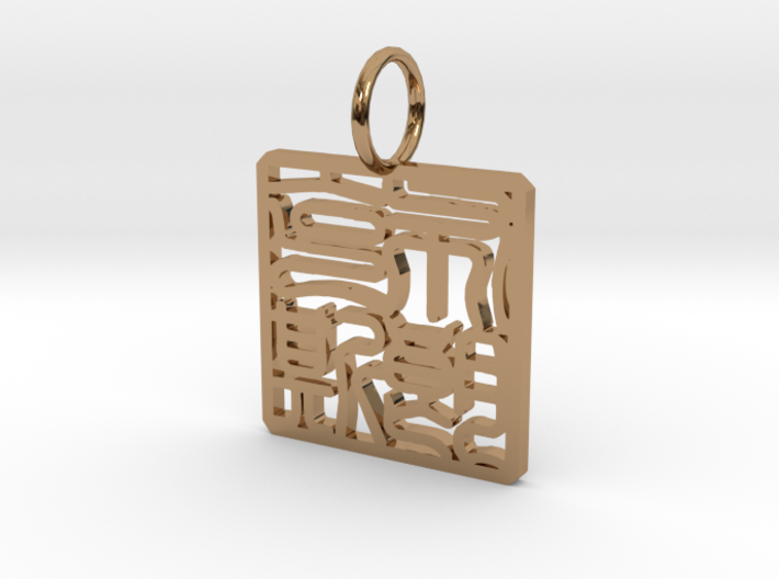 Bronx Necklace Pendant 3d printed