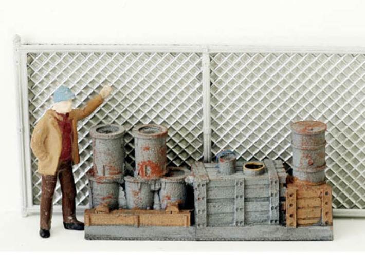 Chain Link Fencing N scale 3d printed Chain Link Fence N Scale