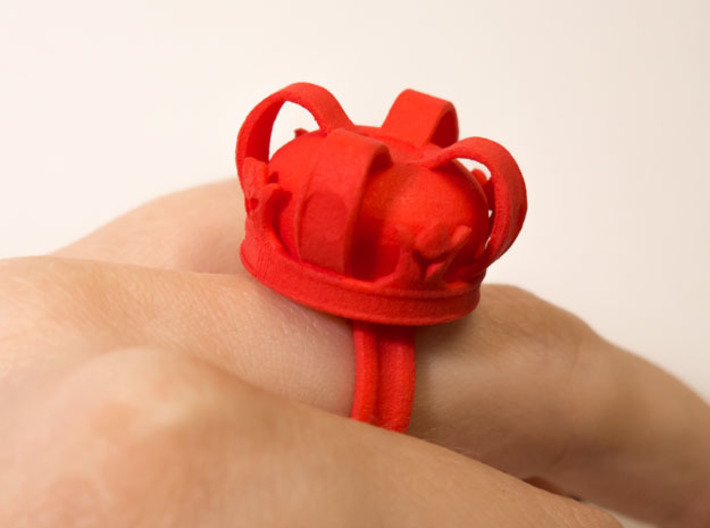 Crown Ring 3d printed Straight from Shapeways
