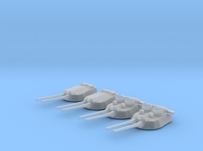 "1/350 15"" MKI* HMS Warspite Guns 1942 w. Blast Bag 3d printed 1/350 15"" MKI* HMS Warspite Guns 1942 w. Blast Bags"