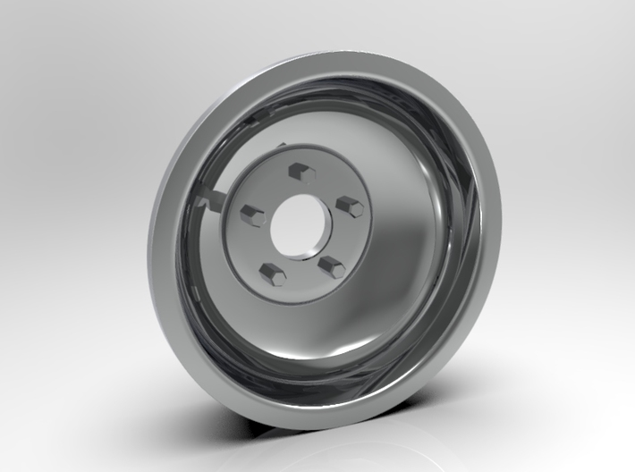 1:8 Rear Indy Solid Style Wheel 3d printed Computer Render Shown