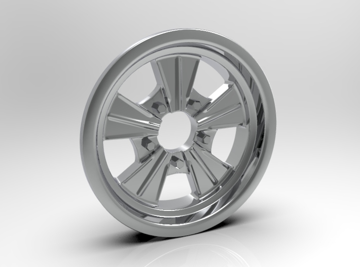 1:8 Front Radir Style Five Spoke Wheel 3d printed Computer Render Shown