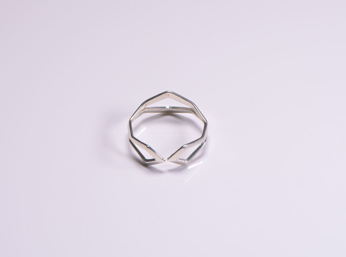 HIDDEN HEART Sharp, ring US size 10.5 , d=20,2mm 3d printed