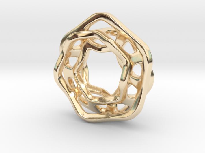 Hex Möbius, 16mm 3d printed