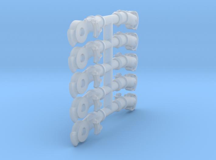 Air Brake Gladhands - 1:35 scale 3d printed