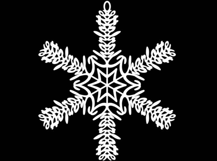 Charlotte snowflake ornament 3d printed