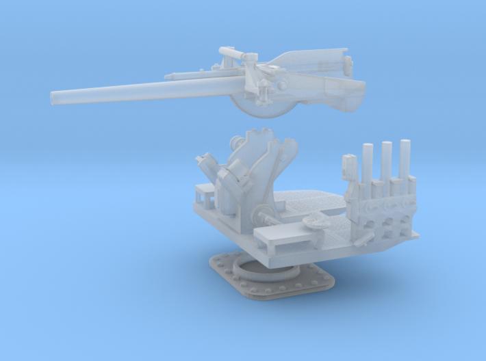 1/96 5 inch 25 (12.7 cm) Deck AA Gun KIT 3d printed