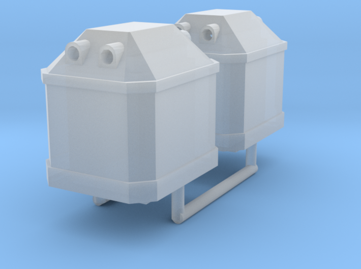 Two N scale Waste Glass Containers 3d printed