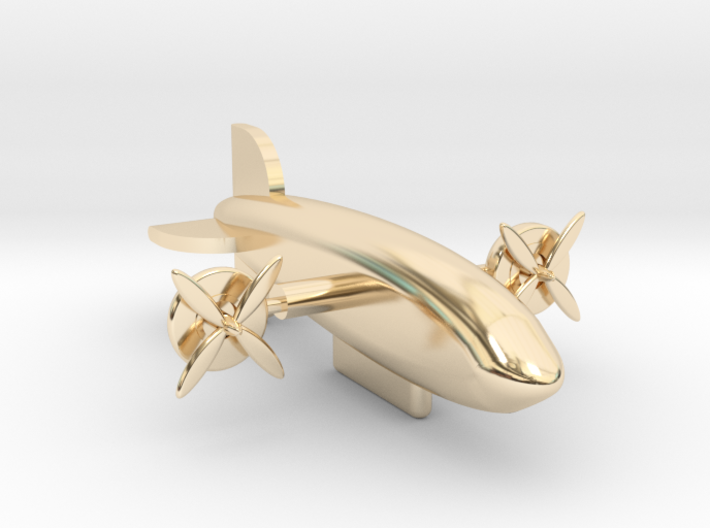 Zeppelin with moving rotors 3d printed