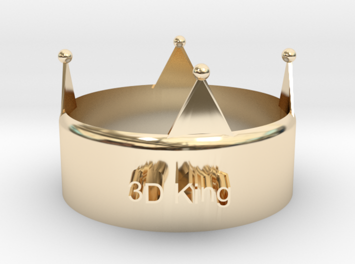 3D King Crown 3d printed
