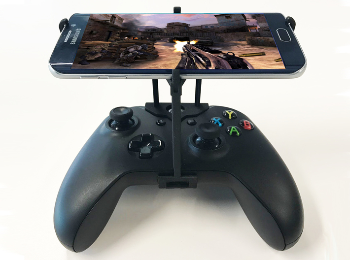 Xbox One S controller & Apple iPhone X - Over the  3d printed Xbox One S UtorCase - Over the top - Front