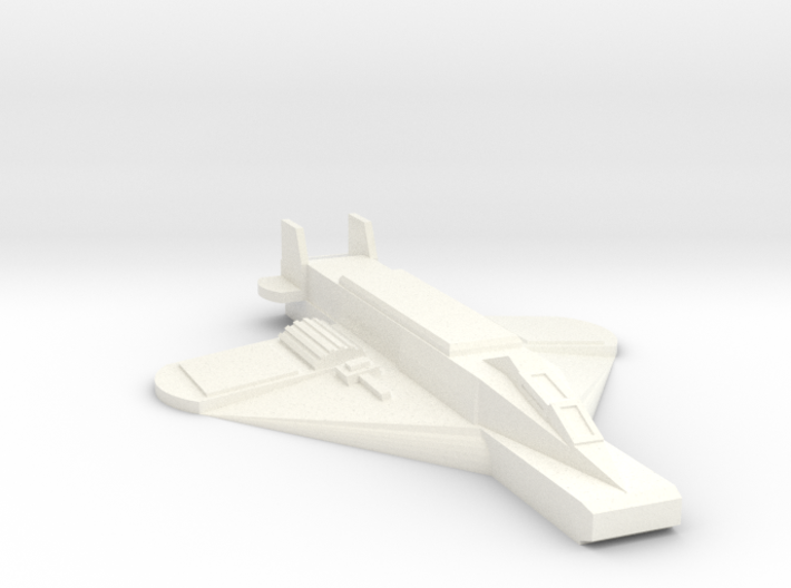 Flat Bottomed 'Crow' Fighter (Free Download) 3d printed